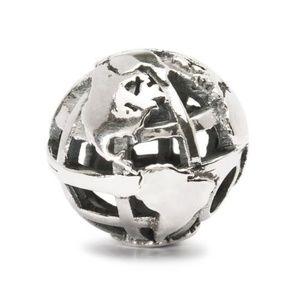 "New Authentic Trollbead Sterling Silver /""Big World/"" Bead Charm 11608"